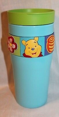 "NEW IN PACKAGE WINNIE THE POOH ZAK COFFEE TUMBLER 7-1/4"" TALL 12oz"