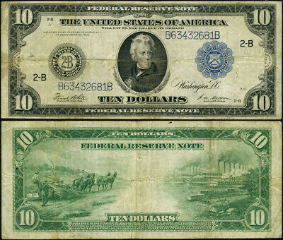 FR. 911 C $10 1914 Federal Reserve Note New York Fine+