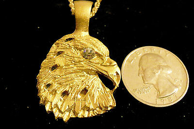 bling gold plated eagle CZ MYTH MILITARY FASHION pendant charm necklace JEWELRY