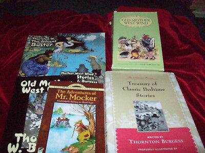 Lot 12+ Thornton Burgess Books HB/PB Treasury Old Mother West Wind Buster Bear