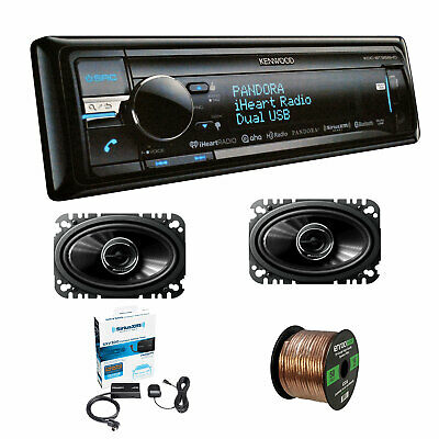 Kenwood CD Receiver w/HD Radio USB With Pioneer 200W SPKR, Wire & Radio Tuner