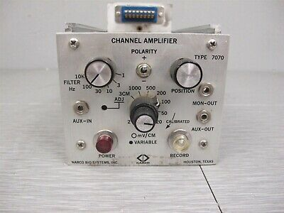 Narco Bio-Systems Channel Amplifier Type 7070