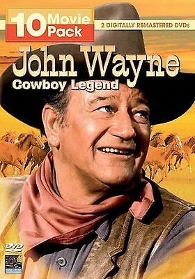 SEALED NEW John Wayne Cowboy Legend 10 Movie Pack DVD 2007 2-Disc Set SHIPS FREE