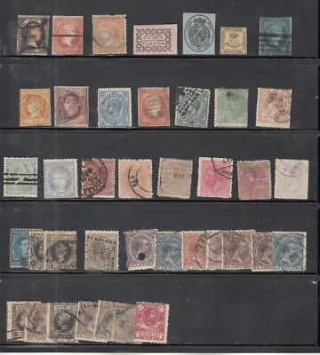 oldhal-Spain-NIce lot of Classic Stamps- Mainly Used