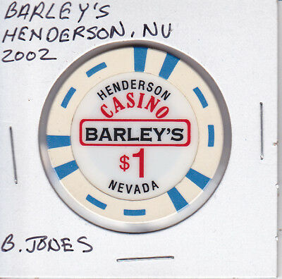 $1 Casino Chip Barley's, Henderson, Nevada - B. Jones Mold 2002