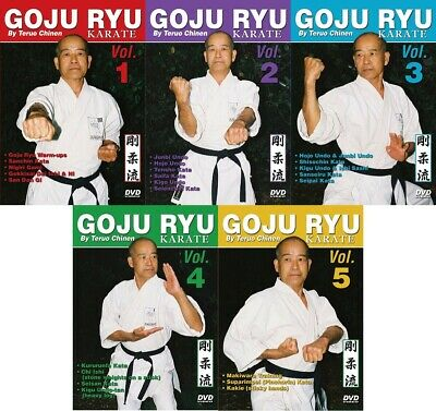 5 DVD Set Okinawan Goju Ryu Karate kata, traditional training ++ Teruo Chinen