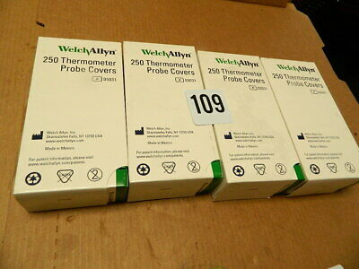 1000.ct  Welch Allyn 5031 Disposable Thermometer Covers 250/bx  (25x10) X4