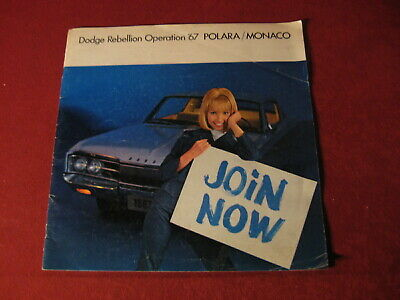 1967 Dodge Polara Monaco Large Dealer Sales Brochure Booklet Catalog Old Book