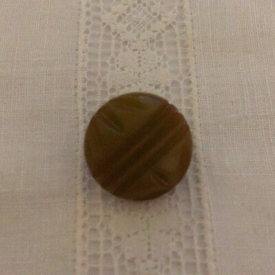 Vintage Green Carved Tested Bakelite Buttons Button Lot 28-25