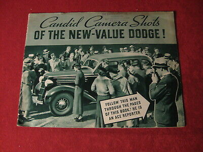 1935 Dodge Showroom Dealer Sales Brochure Original Old Booklet Catalog