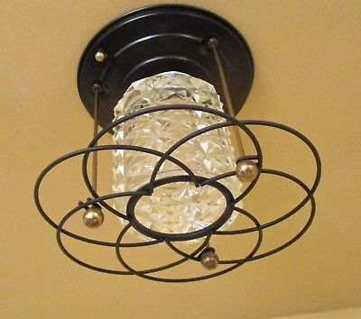 Vintage Lighting 1950 Hollywood Regency foyer More Available