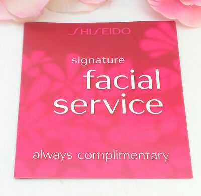 Shiseido Facial Service Gift Certificate Card Redeem at a Local Shiseido Counter