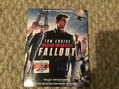 MISSION: IMPOSSIBLE - FALLOUT  2018 Blu-Ray + DVD + Digital 3-Disc Set.