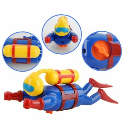 Baby Bath Toy Wind Up Diver Bathtub Toy Swimmers Scuba Toy Kids Toy Simulation