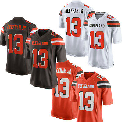 the latest fa477 01f80 NEW MEN'S CLEVELAND Browns 13# Odell Beckham Jr Jersey Orange/Brown/White  M-3XL