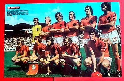 Football Rare Poster  Hollande World Cup 1974 (Cruyff Neeskens Rep Krol Haan)