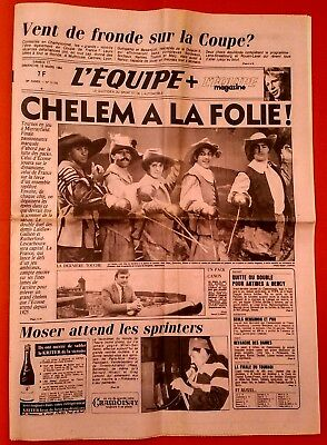 L'equipe 18 Mars 1984 Rugby Tournoi 5 Nations Ecosse - France Finale Murrayfield