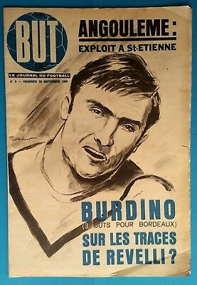 FOOTBALL  RARE BUT n° 3 de 1969 CHAMPIONNAT FRANCE ASSE OM MARSEILLE BORDEAUX