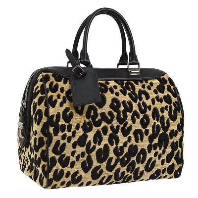 2e06a16a6bb8 Auth Louis Vuitton Leopard Speedy Hand Bag M97396 Steven Sprouse 2012  Ak27831