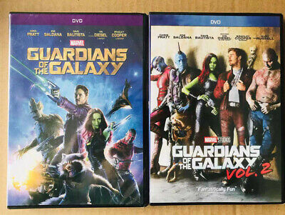 Guardians of the Galaxy Vol. 1 & 2 (DVD)  2 MOVIES! Brand New USA seller
