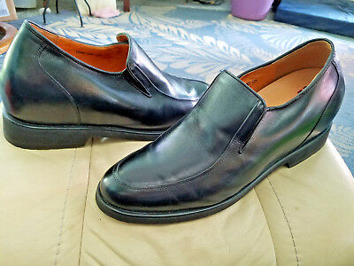 27a8ea29b09 Men s MINT Black Leather TOTO Elevator Shoes Slip on Loafers sz 12M
