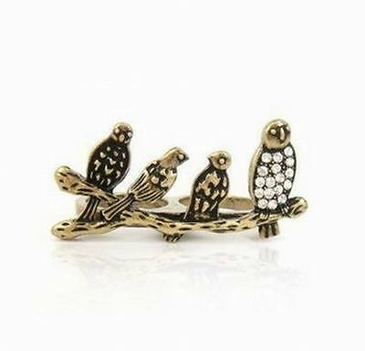 New fashion of the ancient bronze bird lady ring EA-154