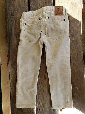Ralph Lauren Beige Beekman Skinny Stretch Denim Jeans Girls/Toddlers Size 4/4T