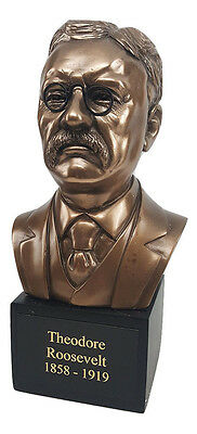 President Theodore Roosevelt Bronze Finish Bust Statue Gift Item