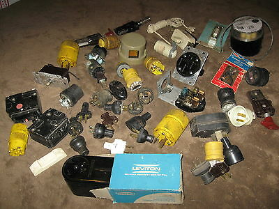Huge Lot Of Vintage Electrical Parts - Relays, Plug Ends & More - Must See!!!!!!