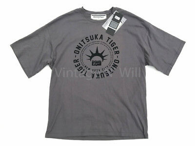 Onitsuka Tiger x Andrea Pompilio Mens L Gray/ Black Relaxed Fit T-Shirt Asics