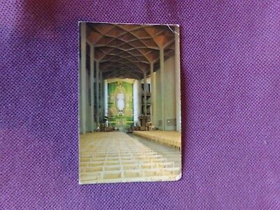 Vintage Postcard UK - England / Coventry Cathedral, The Nave