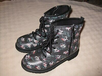 Disney D-Signed Descendants Crown Pleasers Youth Girls Black Boots Size 5 Great