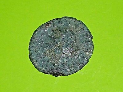 Claudius II Gothicus 268 AD ancient ROMAN COIN fortuna luck fate rudder Good G