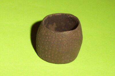 Genuine MEDIEVAL OPEN TOPPED BEEHIVE THIMBLE artifact antiquity good antique G