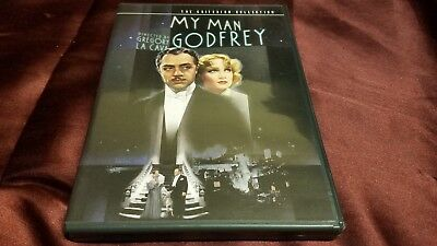 My Man Godfrey Criterion Collection DVD  1st Edition, OOP Like new! Ships fast!