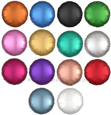 """10 Satin Luxe 17/"""" Foil Heart Helium Balloons Wedding Birthday Engagement Party"""