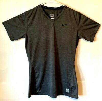 dd8cec57b NIKE PRO WOMENS Nike Fit Core II Sz Large Fitted Athletic Fitness Shirt  Gray C23