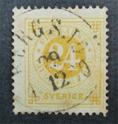 nystamps Sweden Stamp # 34a Used $55