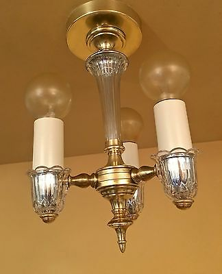 Vintage Lighting exquisite 1930s foyer pendant by Lightolier