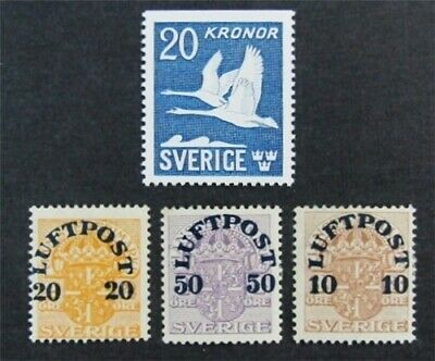nystamps Sweden Stamp # C1//C8 Mint OG H/NH $32