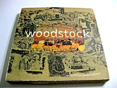 Woodstock-Three-Days-of-Peace-&-Music-25th-Anniversary-4-CD-Box-Set + BOOKLET