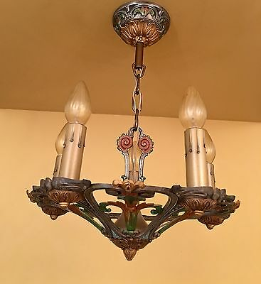 Vintage Lighting two antique 1930 Markel chandeliers. More Available