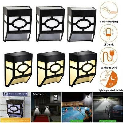 6x Solar Powered Door Fence Super Bright Wall LED Lights Waterproof Outdoor Lamp