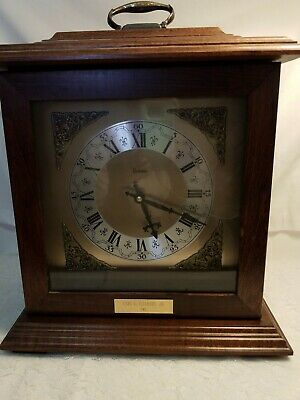 Vintage Bulova mantel Clock Made in Japan Preowned Dark Cherry Brown  With...