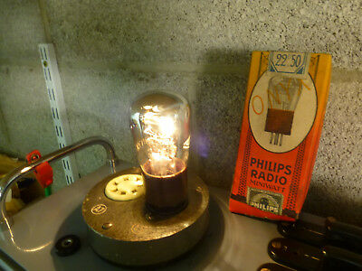 1 Philips GDER Onyx 4V battery batterie radio older tube filament heating OK NOS