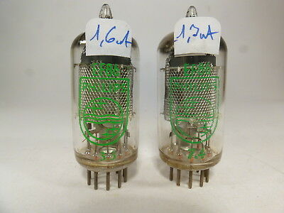 Two EF86 Philips for quad 2 tube amplifier, close matched like nos