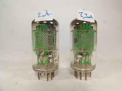 one pair EF86 Philips green label same code 8Y1 matched tubes near NOS