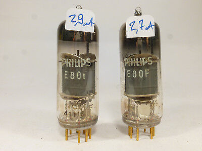 one pair E80F Philips SQ special quality tube amplifier, premium EF86 gold pin