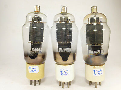 3 * ATS 25 807 4Y25 VT60 vintage tubes white ceramic base matched in U61C