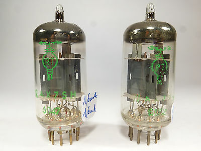 one pair 12AX7SH ECC83 ECC803S RT FRS double stage getter code tested near NOS